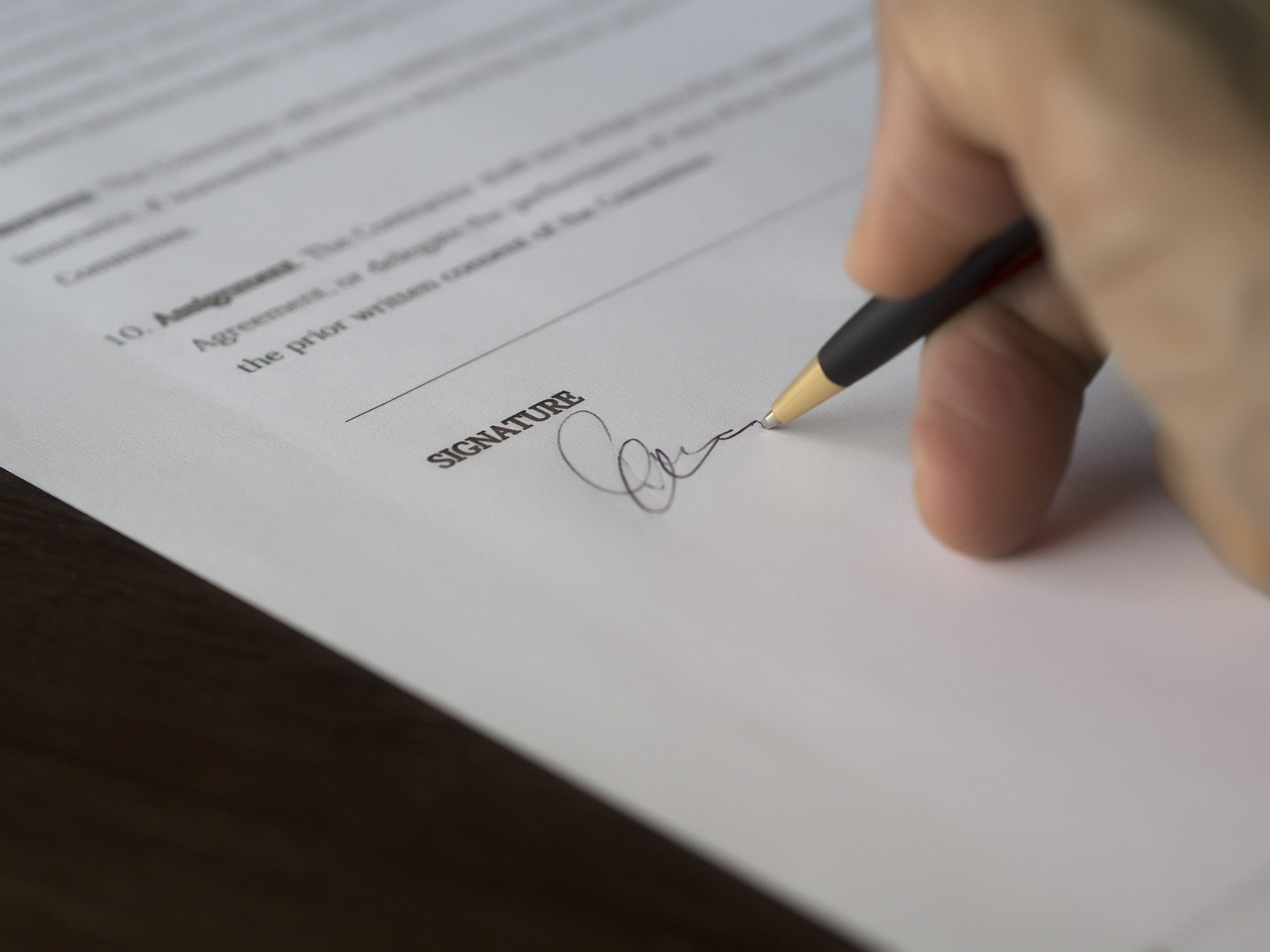 Forretning-underskrift
