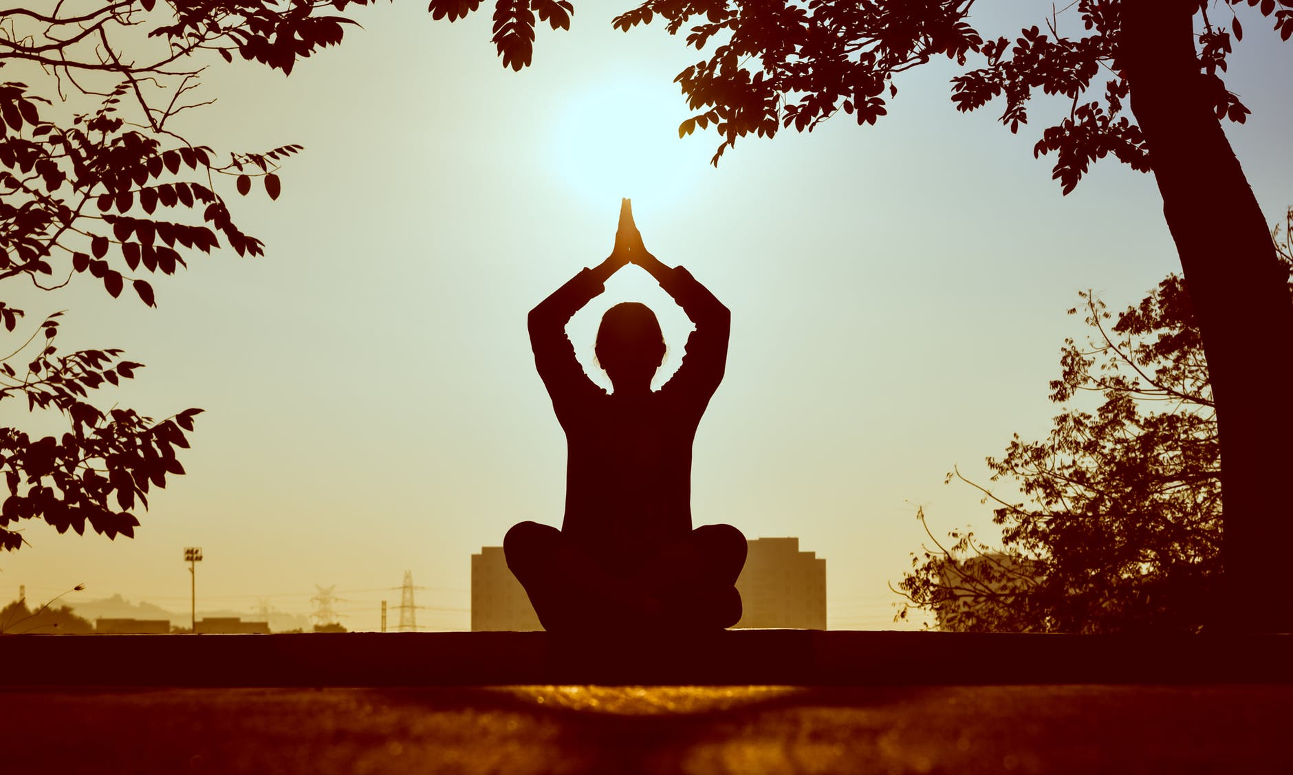 Silhuet laver yoga