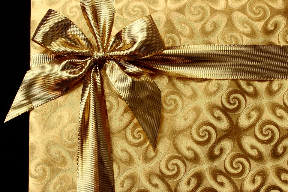 Guldfarvet gave